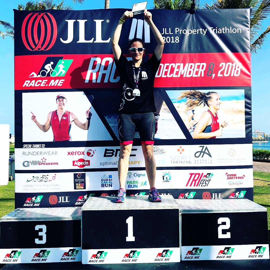 """6 months ago, lying on the hospital bed, she said """"I'll be back for the JLL Triathlon Series Race 1"""". Today, she went out, nervous and excited, but smashed it! Congratulations on the 1st place win!"""