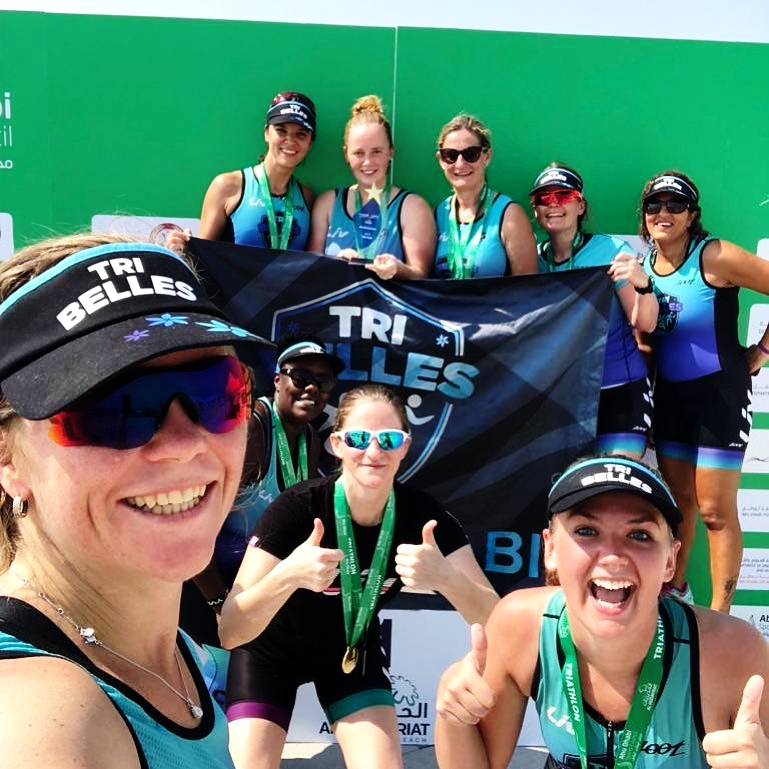 Tri Belles Abu Dhabi Triathlon Community who have supported Gemma with her return to competing