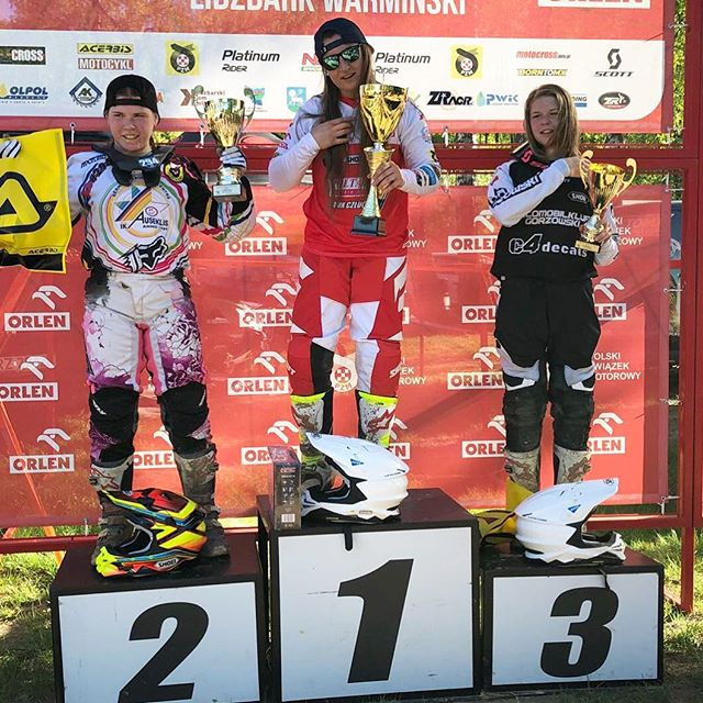 Joanna Miller wins 1st Place in Poland Motocross Championships