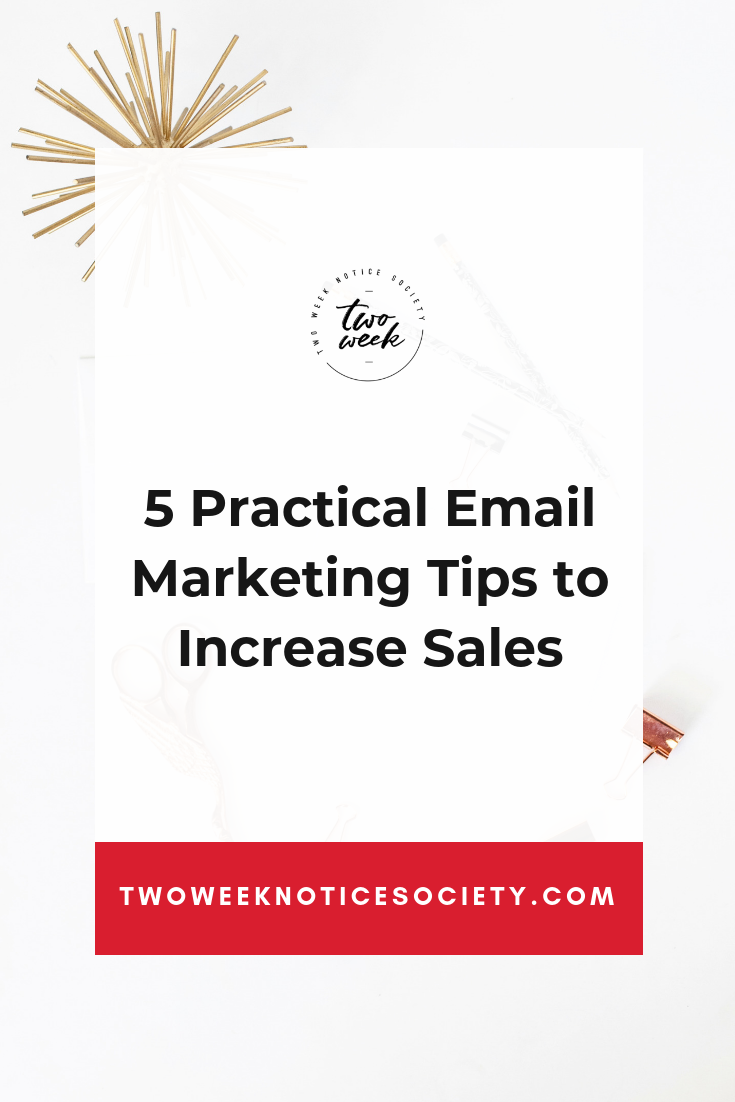 5 Practical Email Marketing TIps To Increase Sales. You need to master email marketing if you want your online business to be successful. Learn how to build an email list for beginners.. This post shows 5 steps to create an email list, and grow it. #smallbusiness #emailmarketing #email #listbuilding