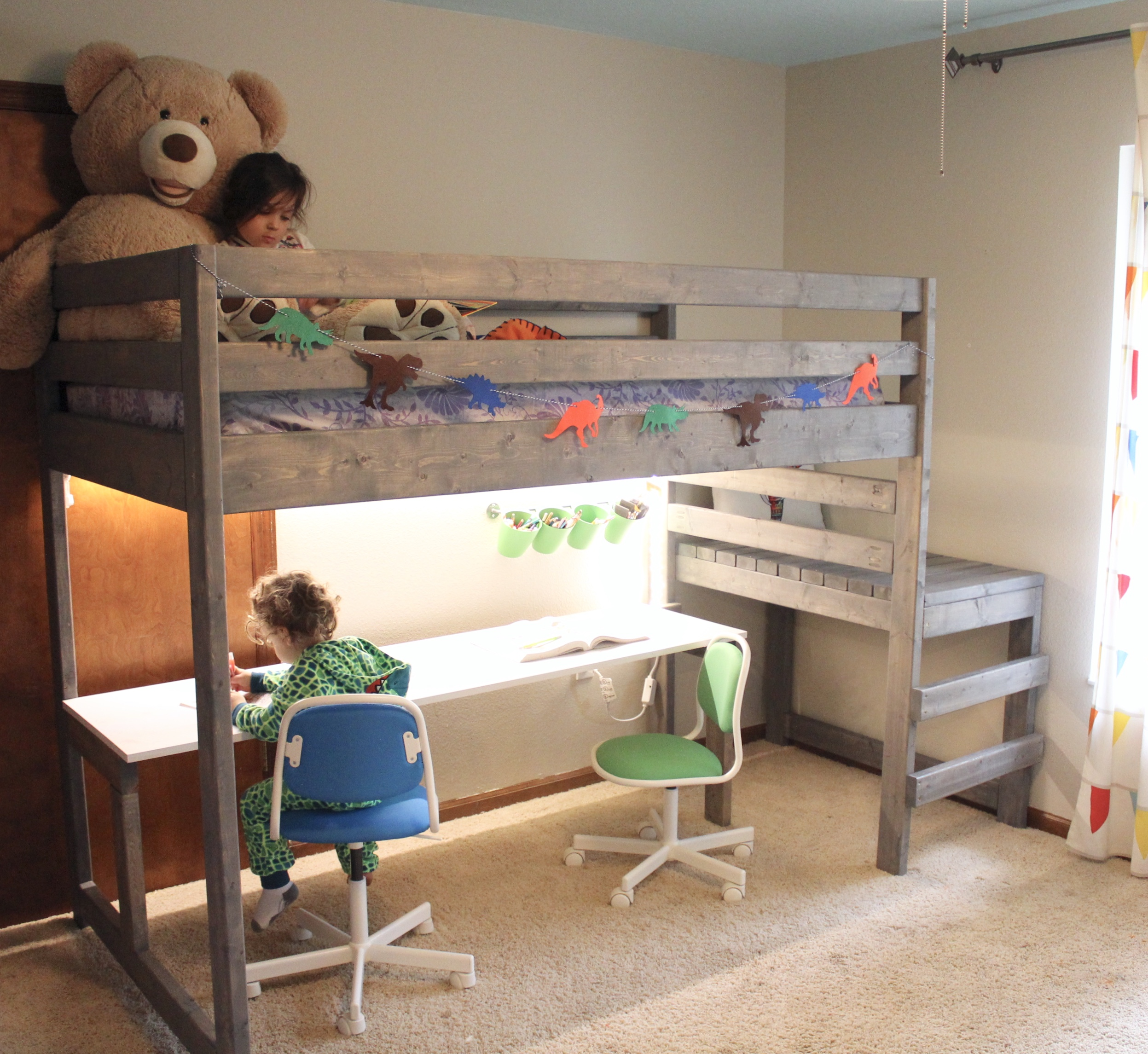 Diy Loft Bed With Desk Giving Tree