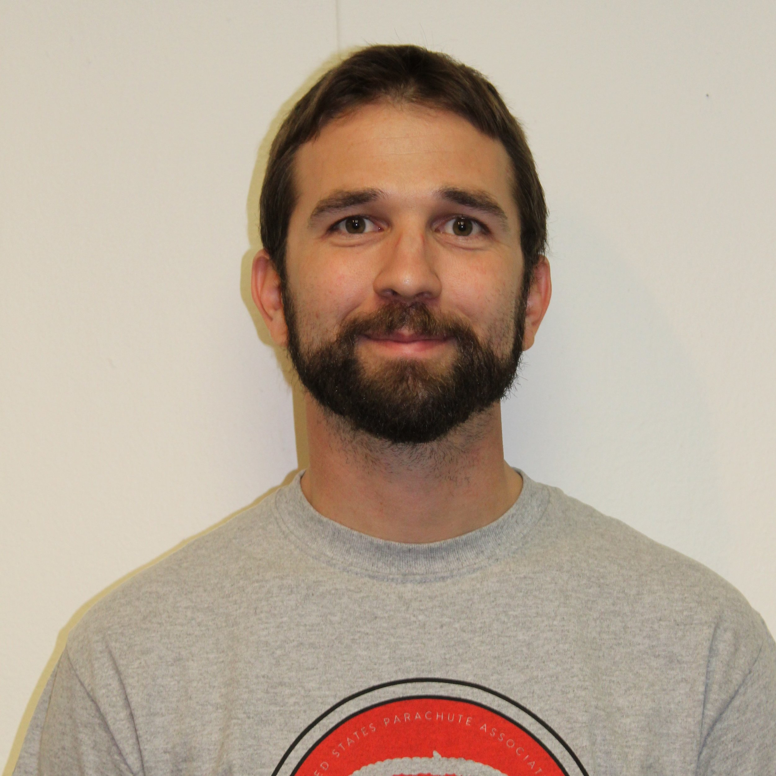 Brandon Cawood - Tandem Instructor and drop zone ownerJumps: 2000+Years in sport: 13 yearsD license 33466Ratings: static line, IAD, Tandem, FAA senior rigger, and Pro Rated