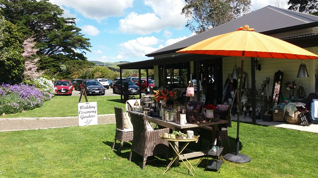 Shop and car park very busy during the High Tea event