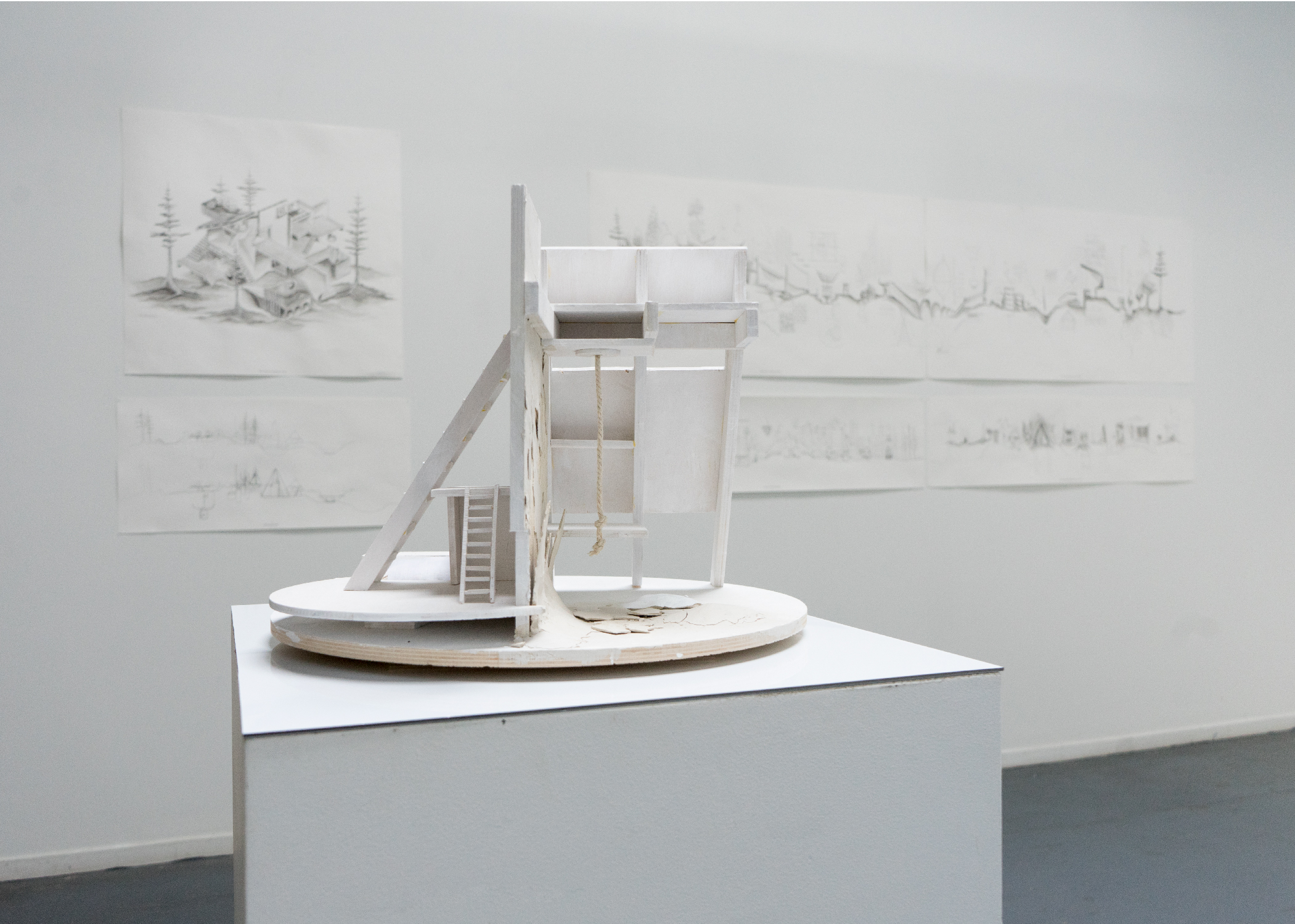 Pera Hardy,  The Place You Thought You Knew,      Model and Drawings
