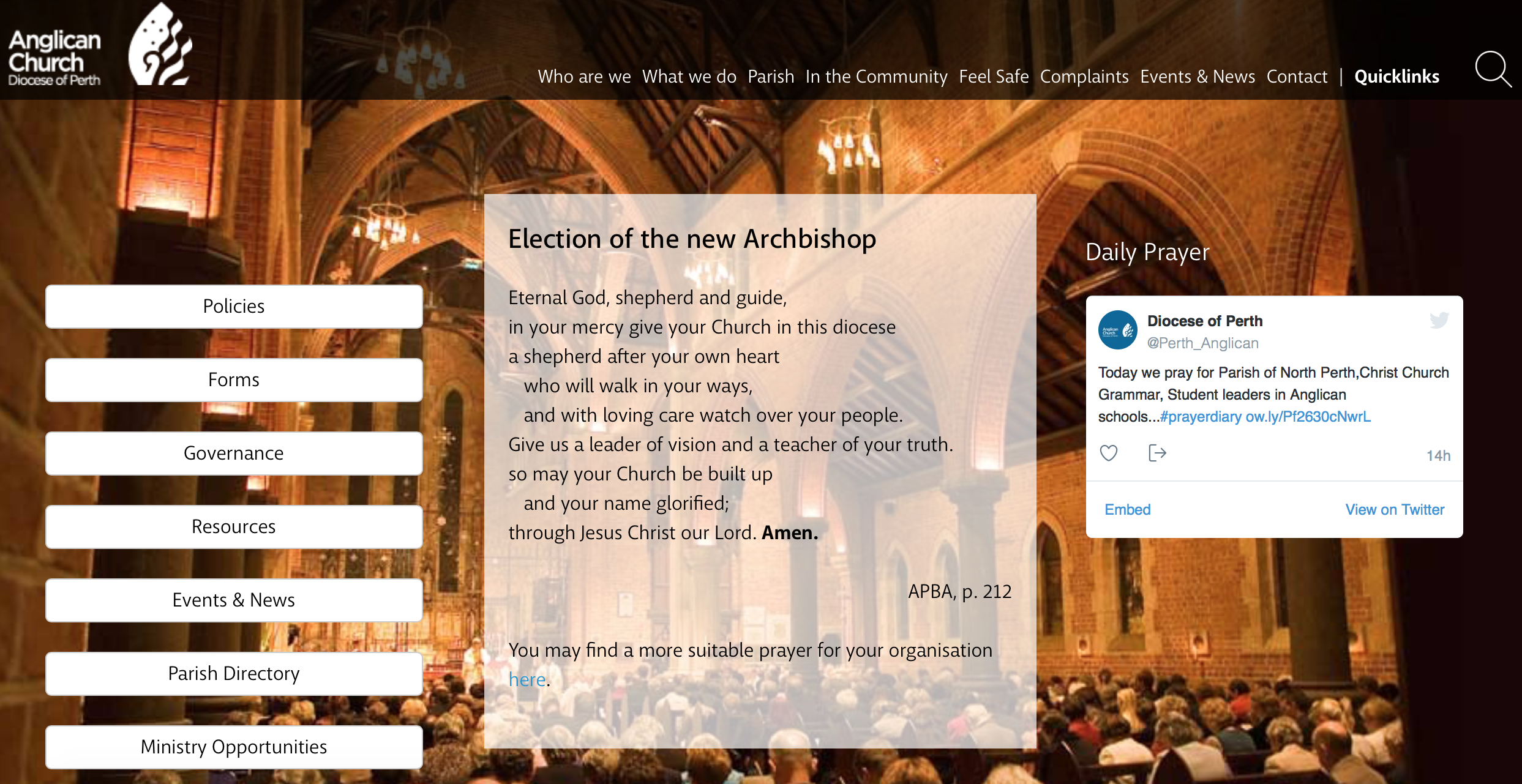 Click here for the Diocesan Website (new window)