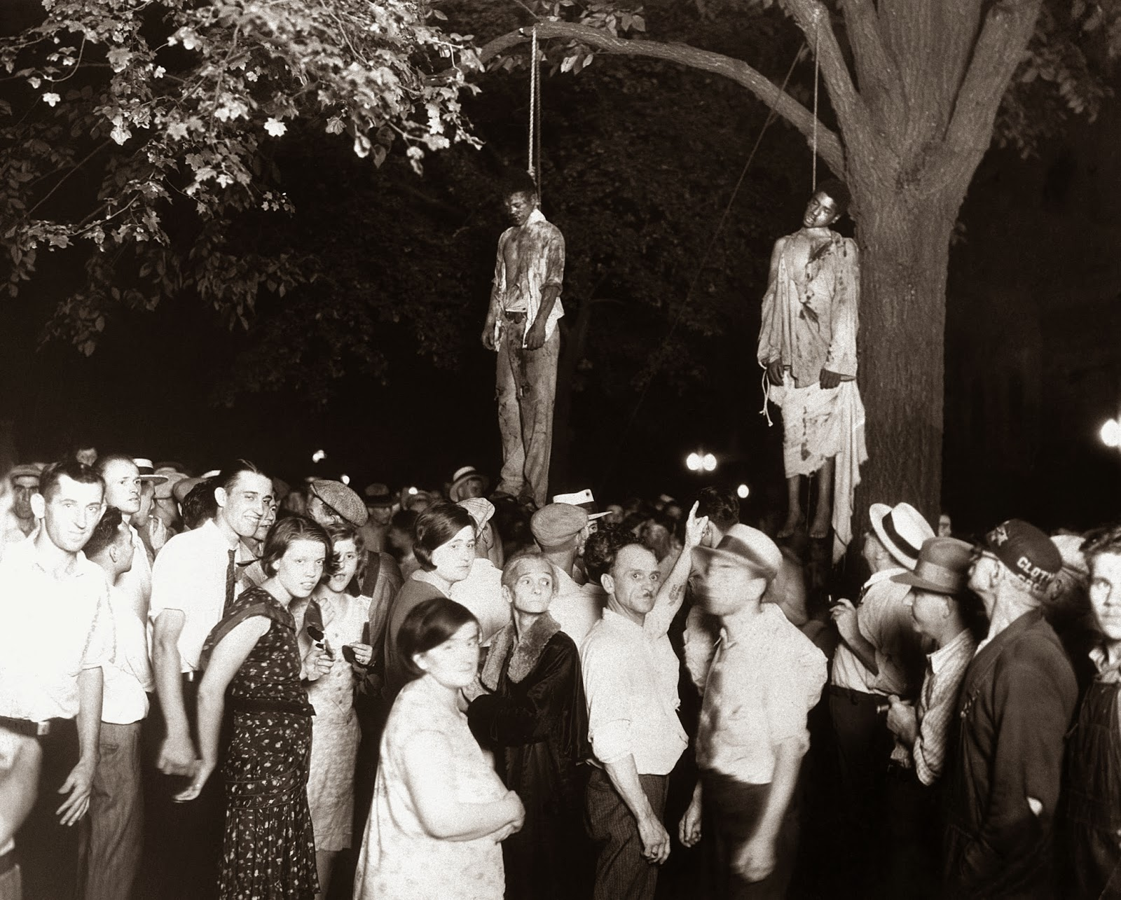 The lynching of Thomas Shipp and Abram Smith, Marion, Indiana, 1930.jpg