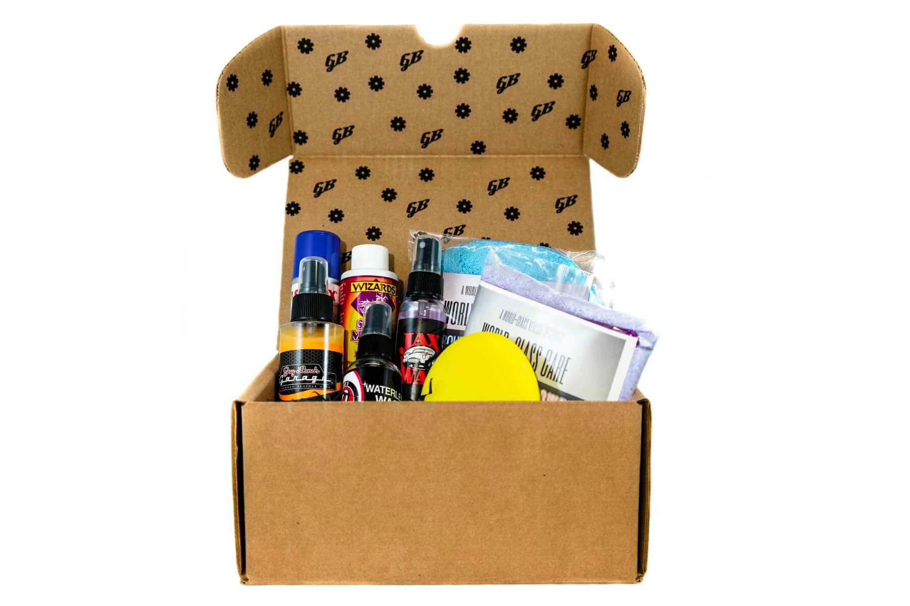 Then, - A curated box of premium detailing products shows up to your door the first week of every month