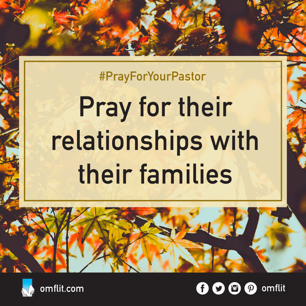 #PrayForYourPastor - Pray for their relationship with their families.Pray that they have a
