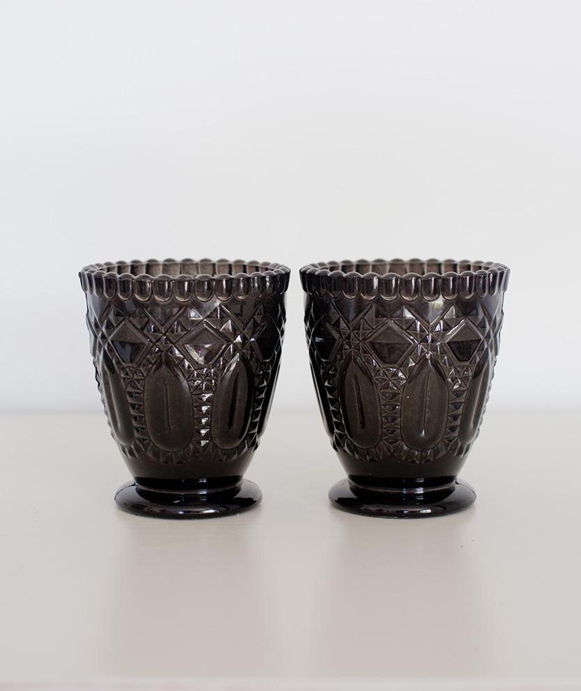Black Glass Votive/Vase
