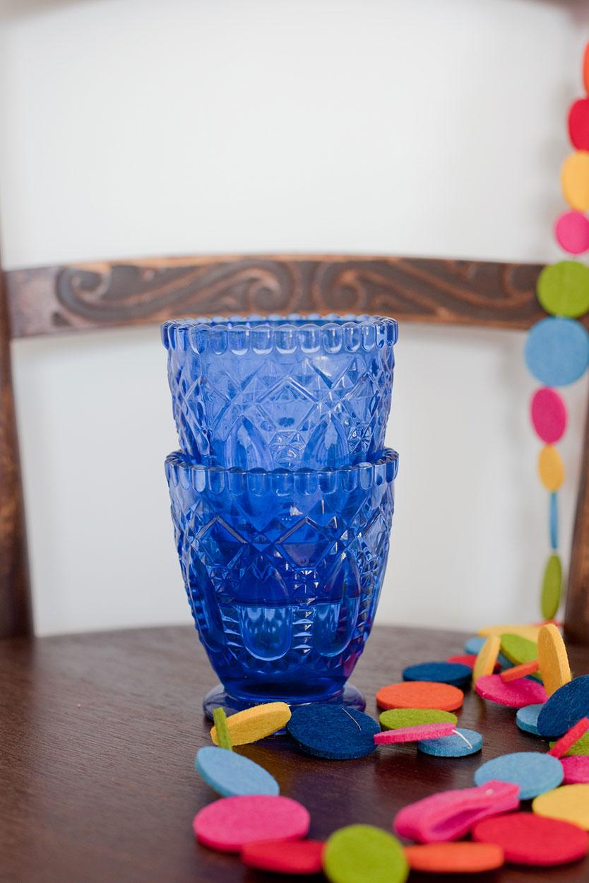 Blue Glass Votive/Vase