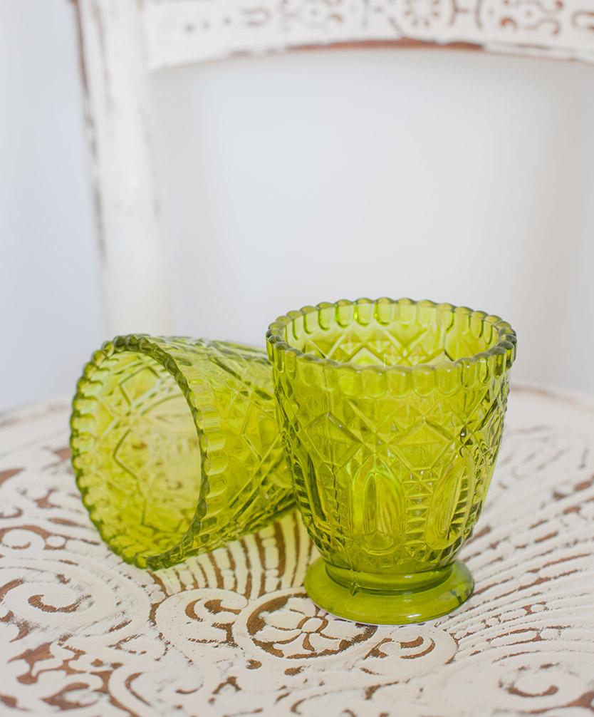 Green Glass Votive/Vase