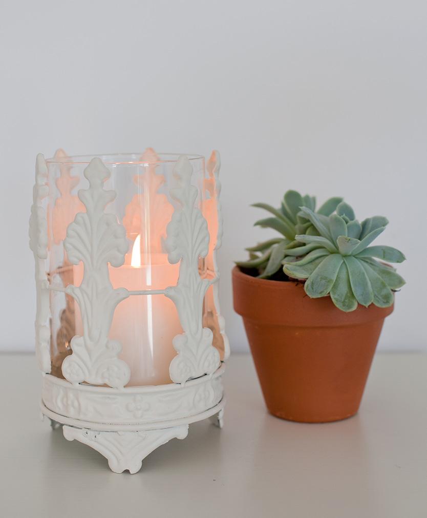 Ornate Hurricane Candle Holder