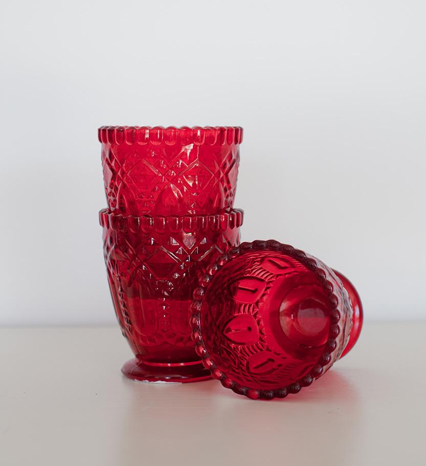 Red Glass Votive/Vase