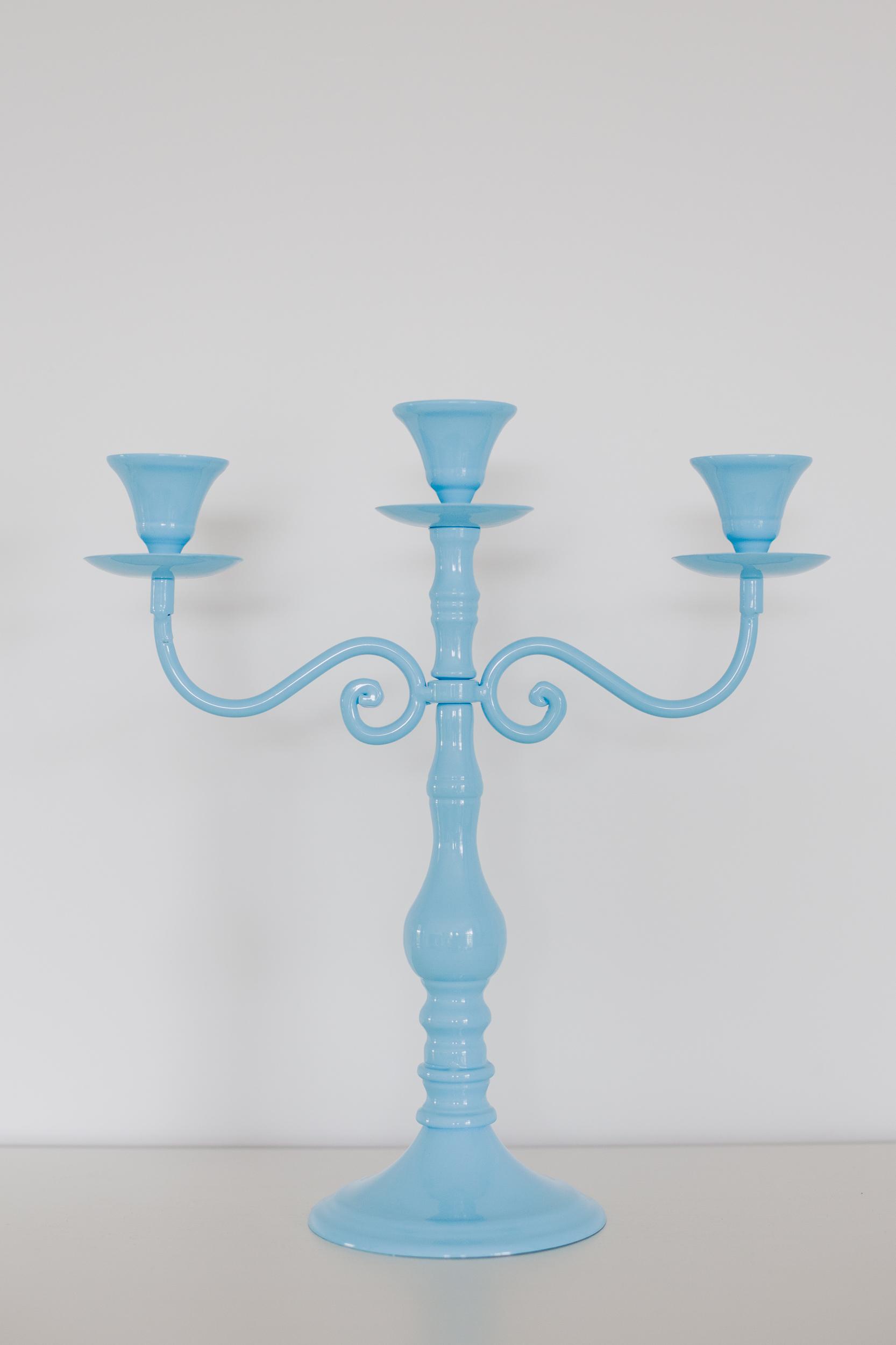 Blue Metal Candelabra