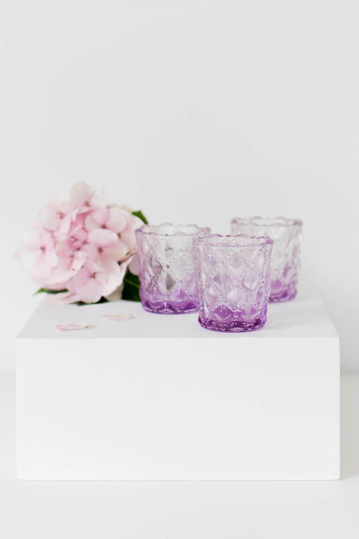 Lilac Glass Tealight