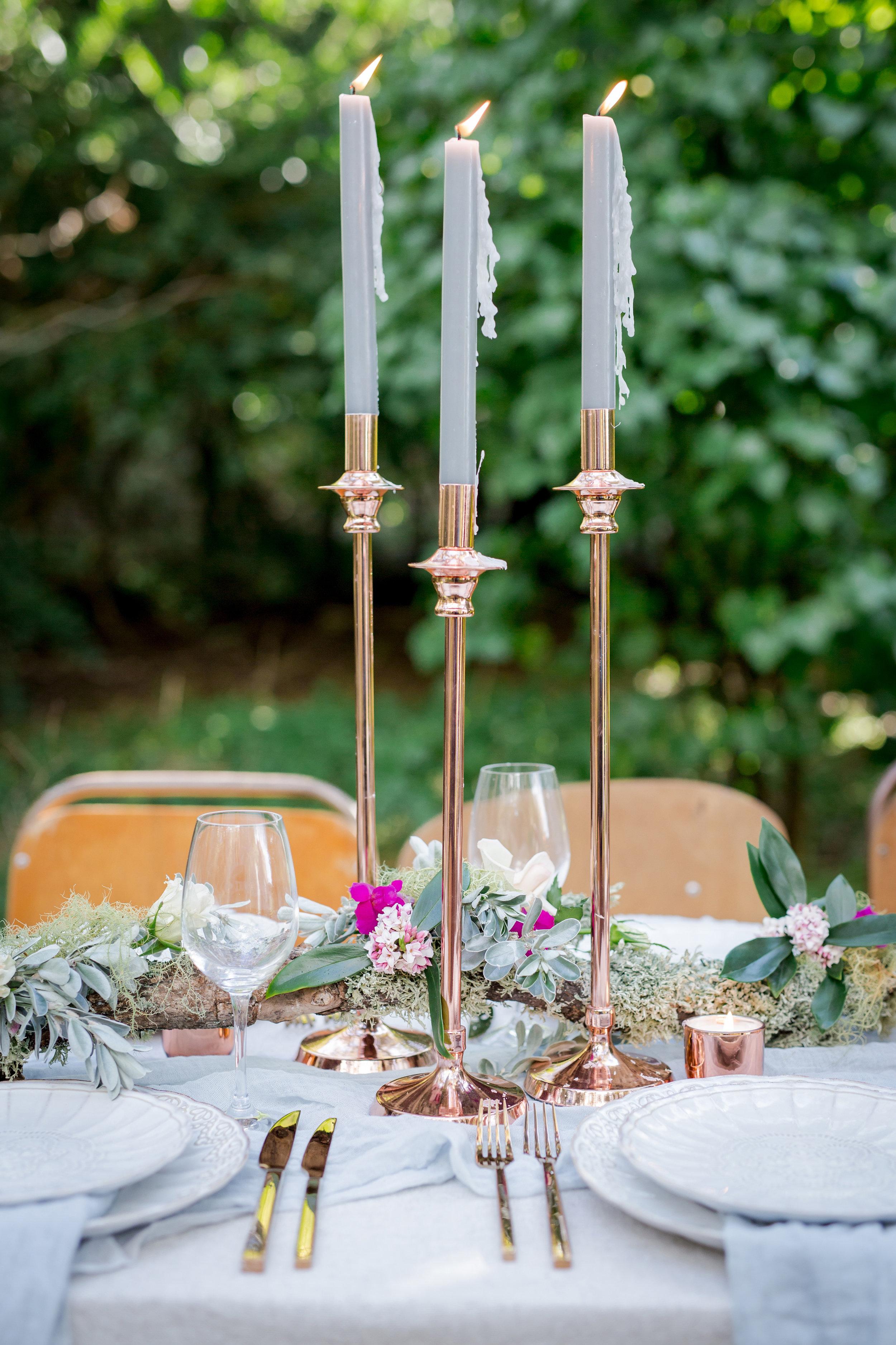 Rose Gold/Copper Candle Sticks