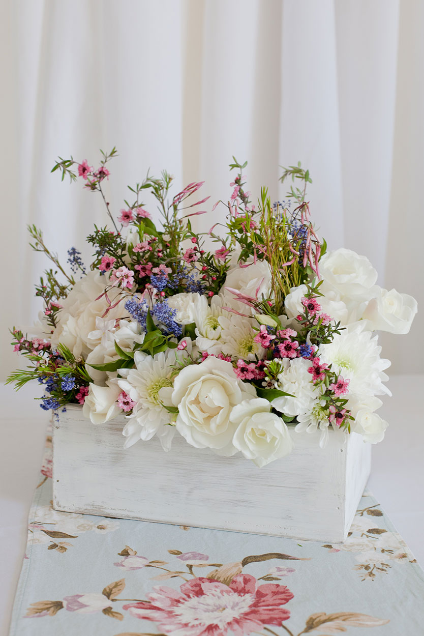 White Washed Flower Box