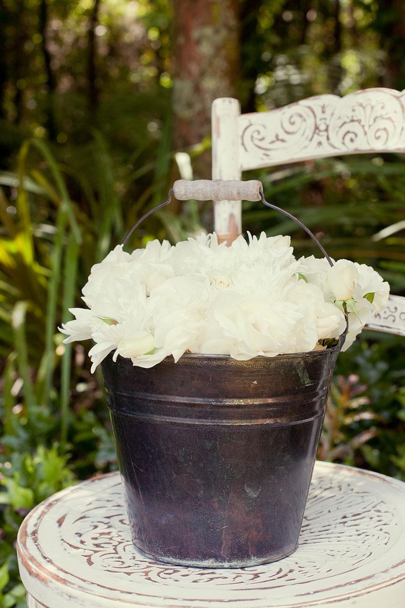 Antique Flower Bucket