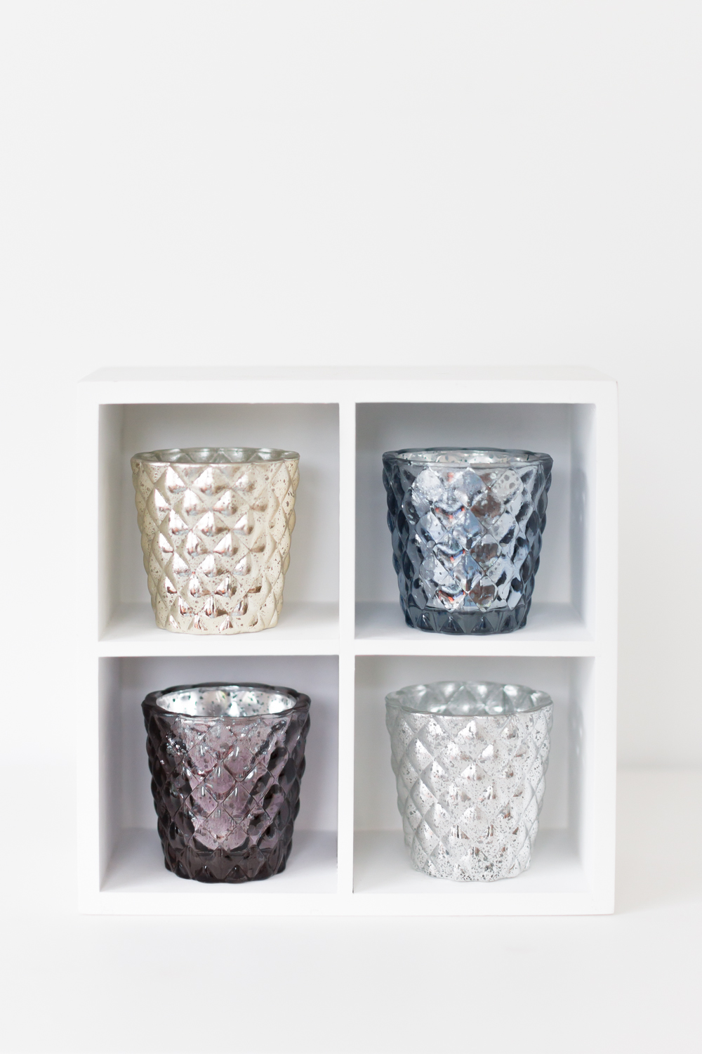 Mercury Glass Quilted Tealight