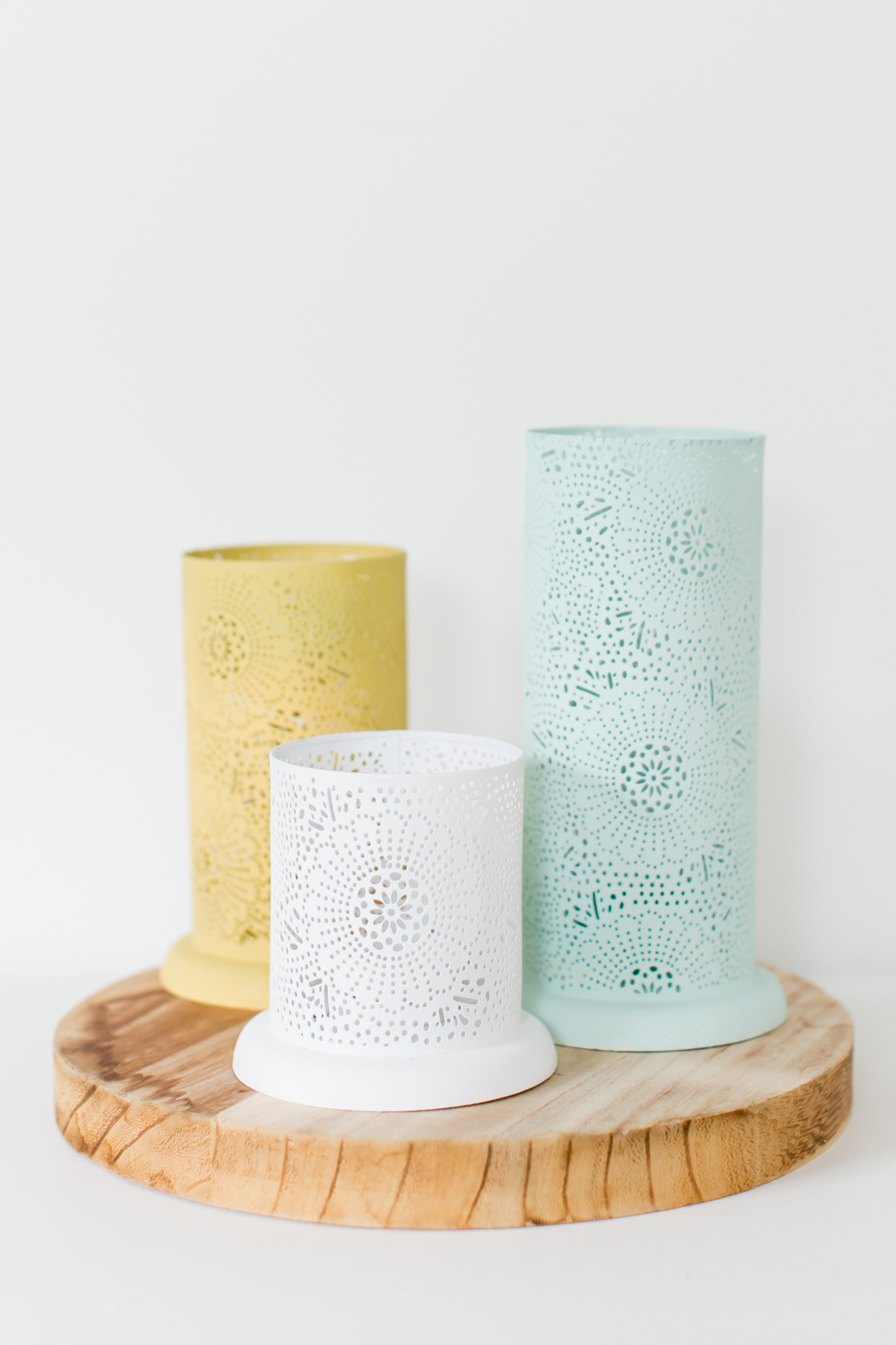 Lace Cutout Candle Holder