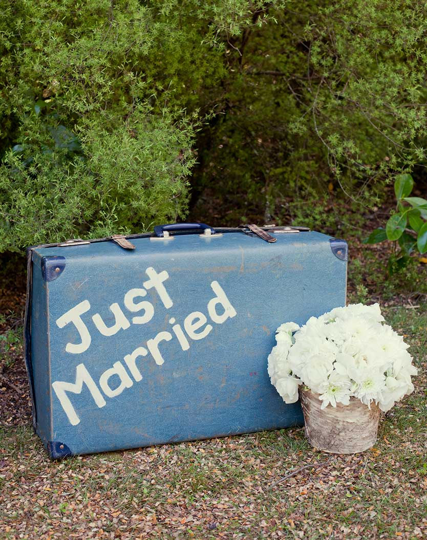 Just Married Suitcase