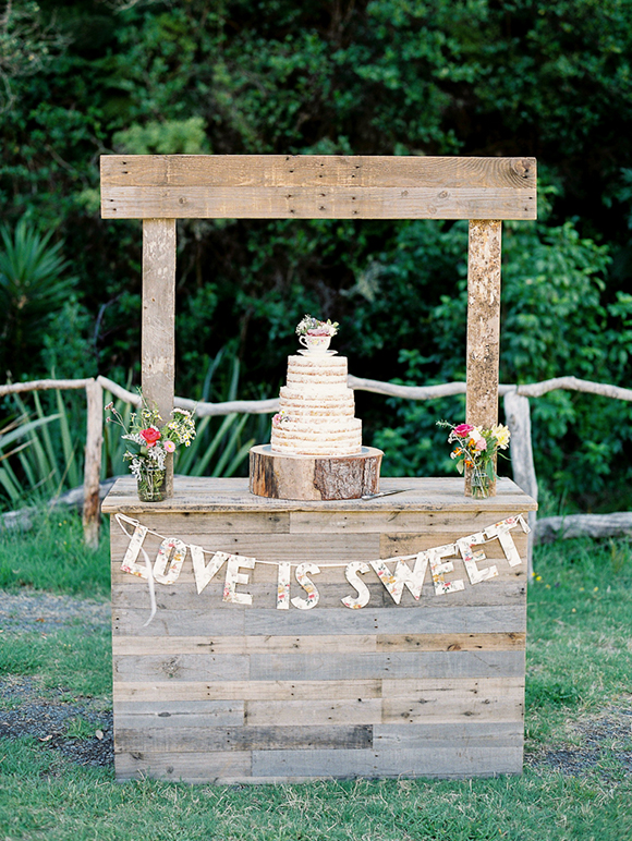 Rustic Ceremony Stand