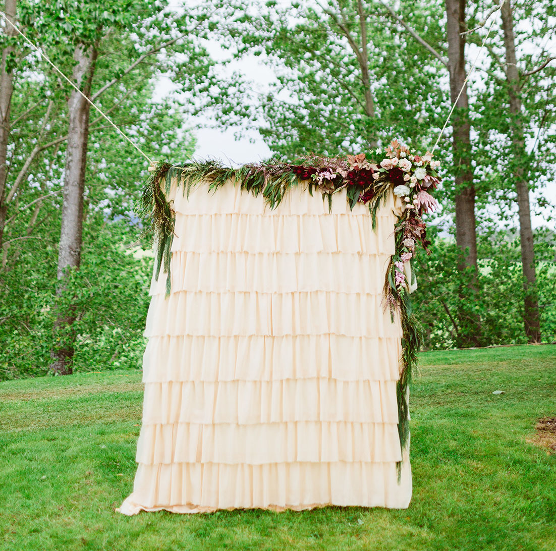 Layered Ruffle Backdrop