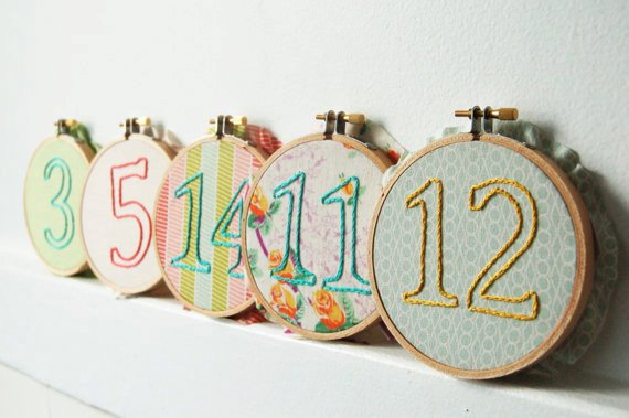 Embroidery Table Numbers