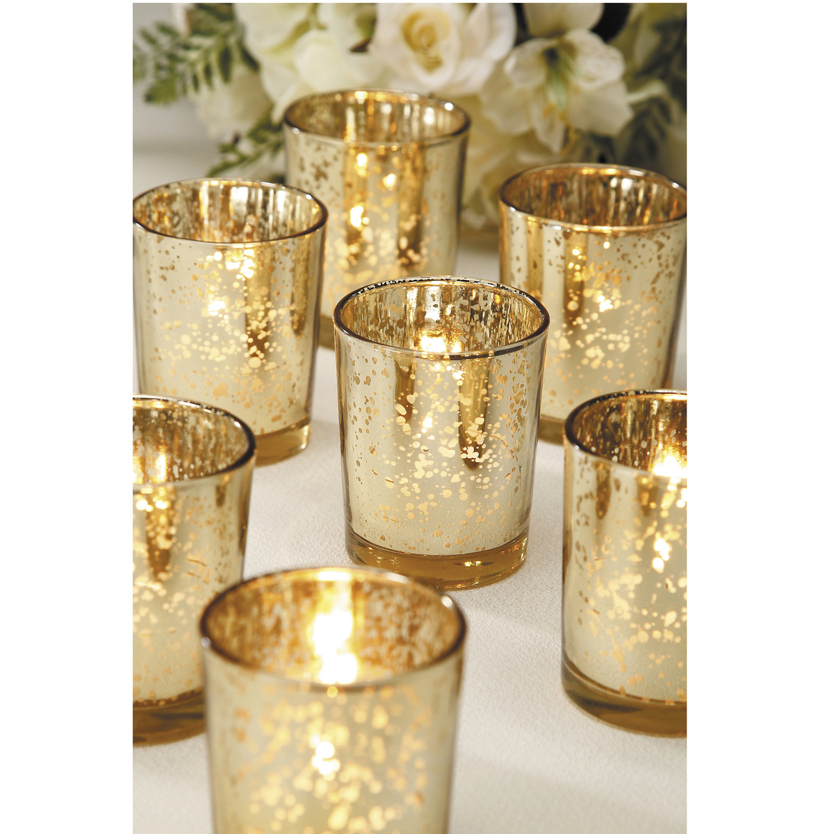 Mercury Glass Gold Tealight