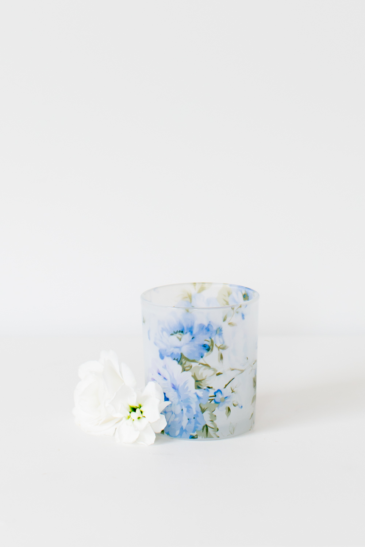 Blue Floral Tealight