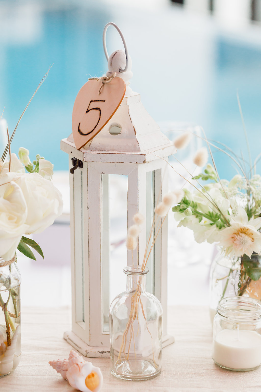 Wooden Heart Table Number