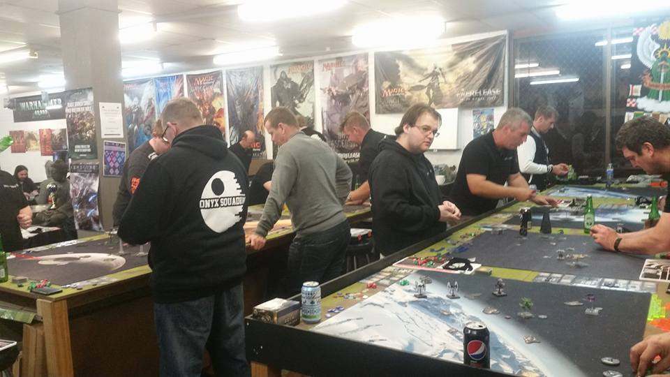 Packed out store for the Onyx Squadron World Cup 2