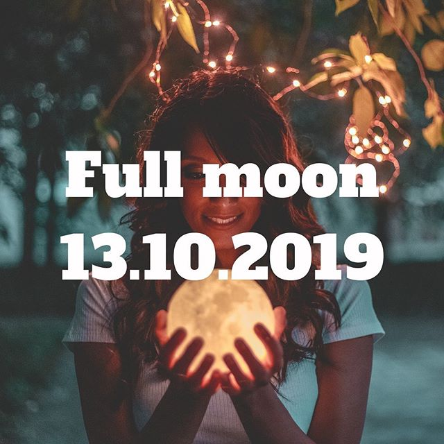 """Full Moon 13.10.2019 - 09:07 GMT in Aries (hunter moon) 🌕 ⠀ Energy of the moon ·  Being independent, be a leader, build great relationships with people. ·  Fire moon, we are getting the light. It's the fire of new beginning. ·  This is the month to feel comfortable enough to do what we didn't dare to do before. Speak your truth. ·  Wanting to find freedom- you make positive changes reform and transform. ·  Deep feelings may come out- this can lead to a personal crisis if they are difficult to control. ⠀ For women: As a moon mother, I am taking part of the worldwide womb blessing. The full moon is dedicated to """"healing the mother ancestors'. ⠀ What is this about? Within our bones, within our DNA, we hold the patterns of our ancient Mother Ancestors-the mitochondrial line. This is the DNA which is passed from a mother to her daughters andsons, but it is only her daughters who can pass it on to the next generation. This meditation focuses on healing the womb-to-womb line, our mitochondrial lineage. Deep within our DNA and cellular memory, we are linked to our Mother Ancestors; to their trauma, pain, and suffering, but also to their strength, courage, resourcefulness and wisdom. If we go far back in time we find that the human race comes from a very small population. So when a large group of women send healing back far enough in time through their womb-to-womb line, they also send healing down through that line to everyone in the present. This makes the 'Healing the Mother Ancestors' meditation a very powerful healing for everyone. ⠀ Here are some words you can practice while meditating tonight during the full moon: ⠀ """"I ask for the Divine Mother's love and healing to be given to all my Mother ancestors and to my maternal line. May all genetic patterns and cell memories be healed. May all energetic memories and group memory be healed. May love and peace be restored to me and my line. May my Mothers walk with me in beauty and in love."""""""