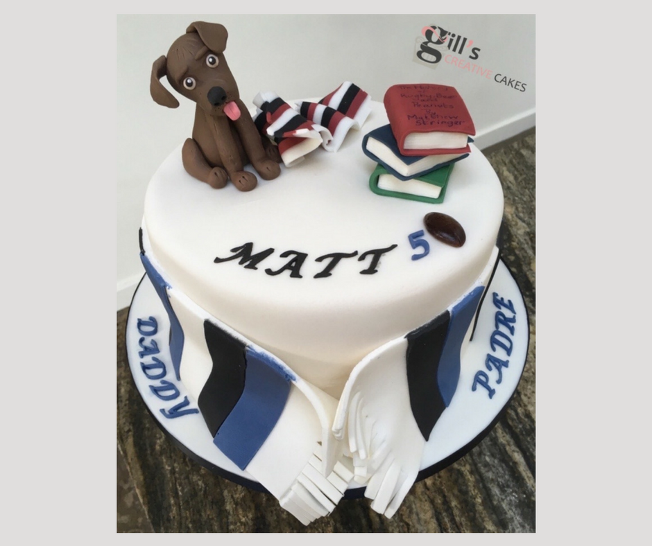 Bespoke 50th Birthday Cake for Bath Rugby Fan