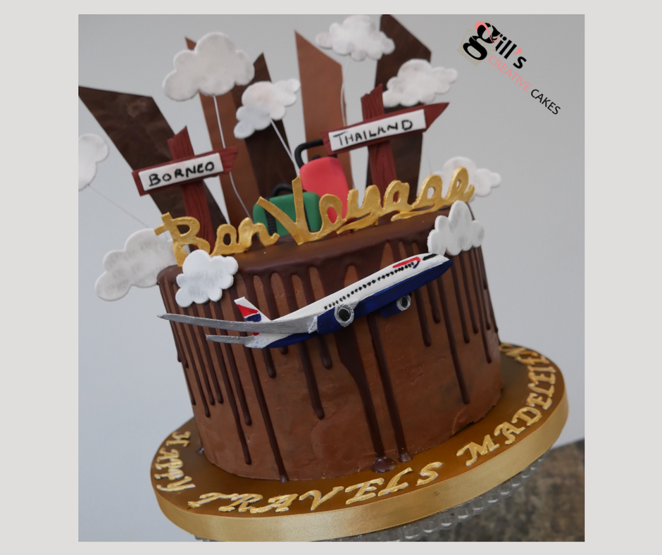Bon Voyage Bespoke Chocolate Celebration Cake