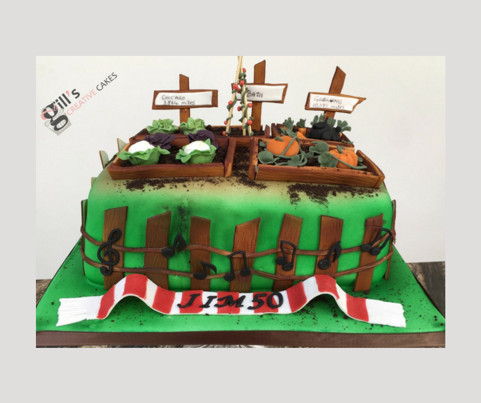 Bespoke 50th Birthday Allotment Cake