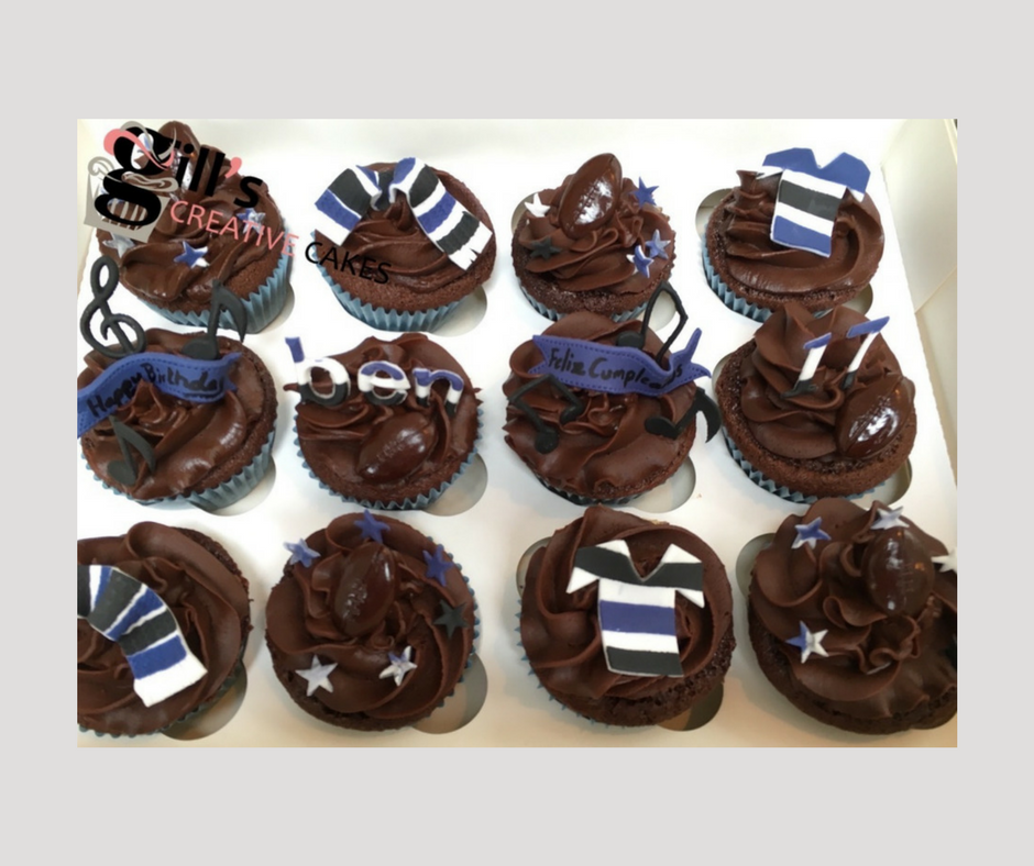 Bath Rugby Themed 16th Birthday Cupcakes.