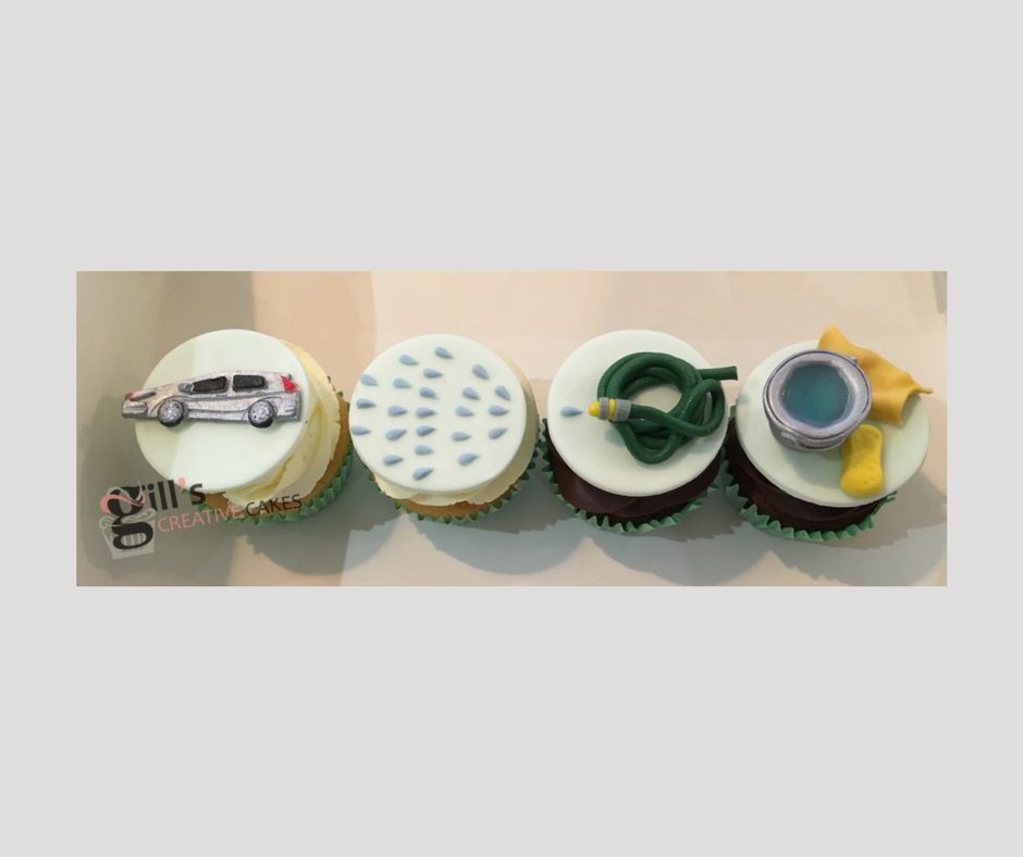 Bespoke Cupcakes for a Customer who loves cleaning his car!!