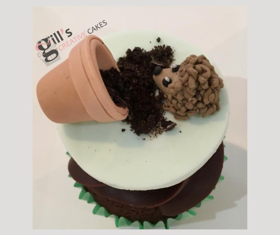 Bespoke Hedgehog Cupcake