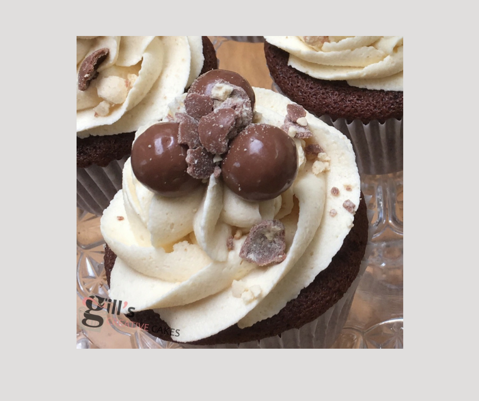 Malteser and Chocolate Cupcake border .png