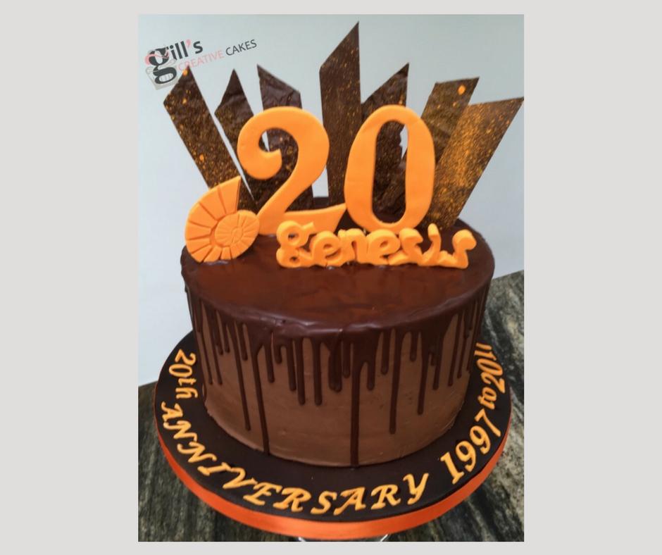 Genesis Gym, Bath 20th Anniversary Cake