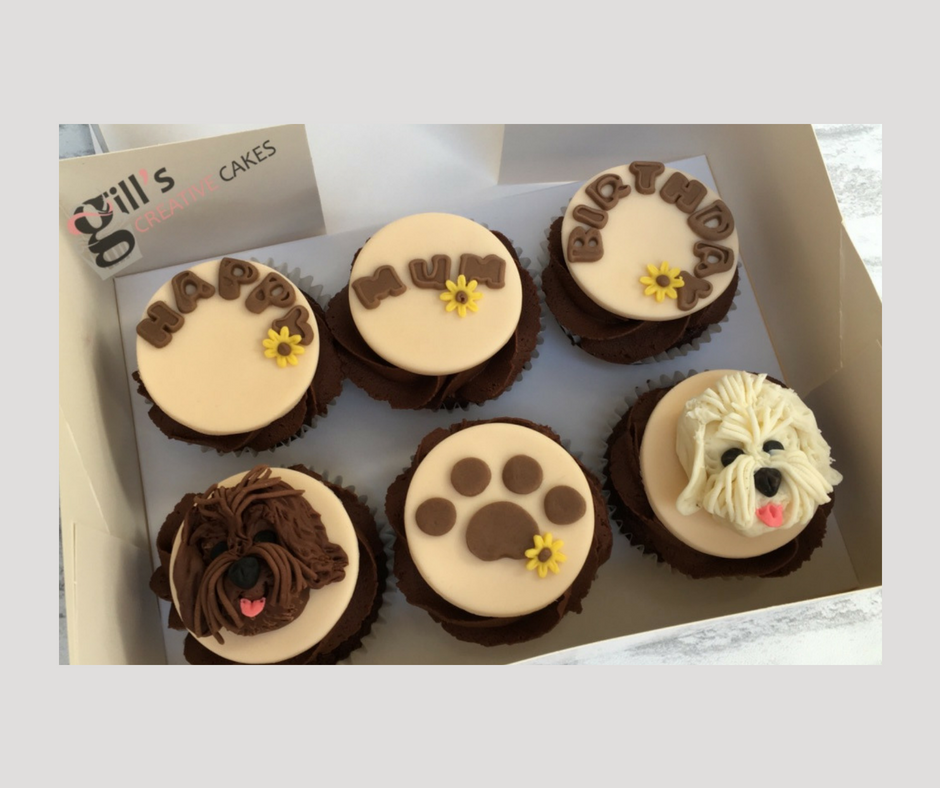 Cockapoo Birthday Cupcakes