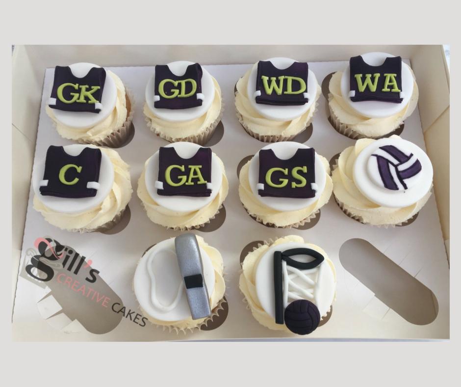 Netball themed Cupcakes