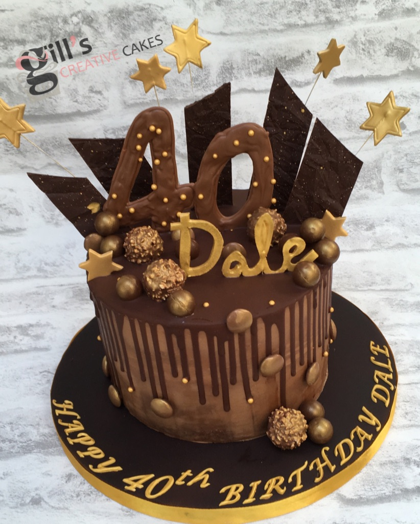Belgium Chocolate Drip and Shard Cake - 8 inch / 20cm - £75 (approx. 25 servings)