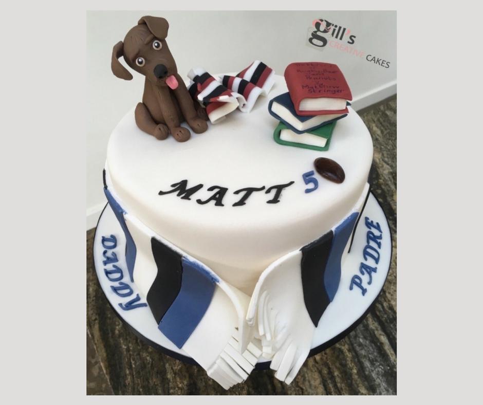 50th Birthday Cake for Bath Rugby Fan