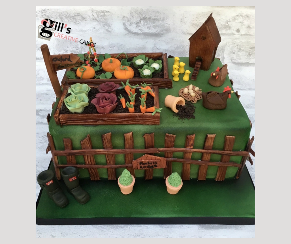 Garden Lovers Birthday Cake