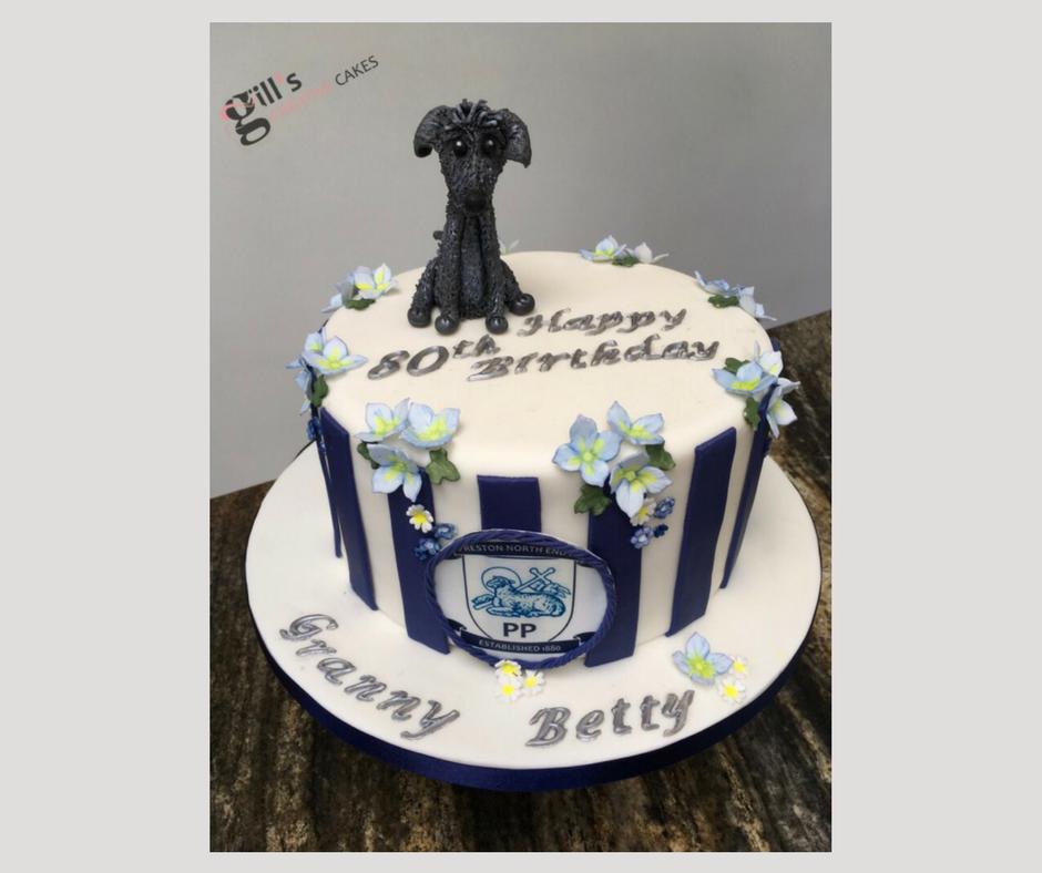 80th Birthday Cake for Preston Northend Fan