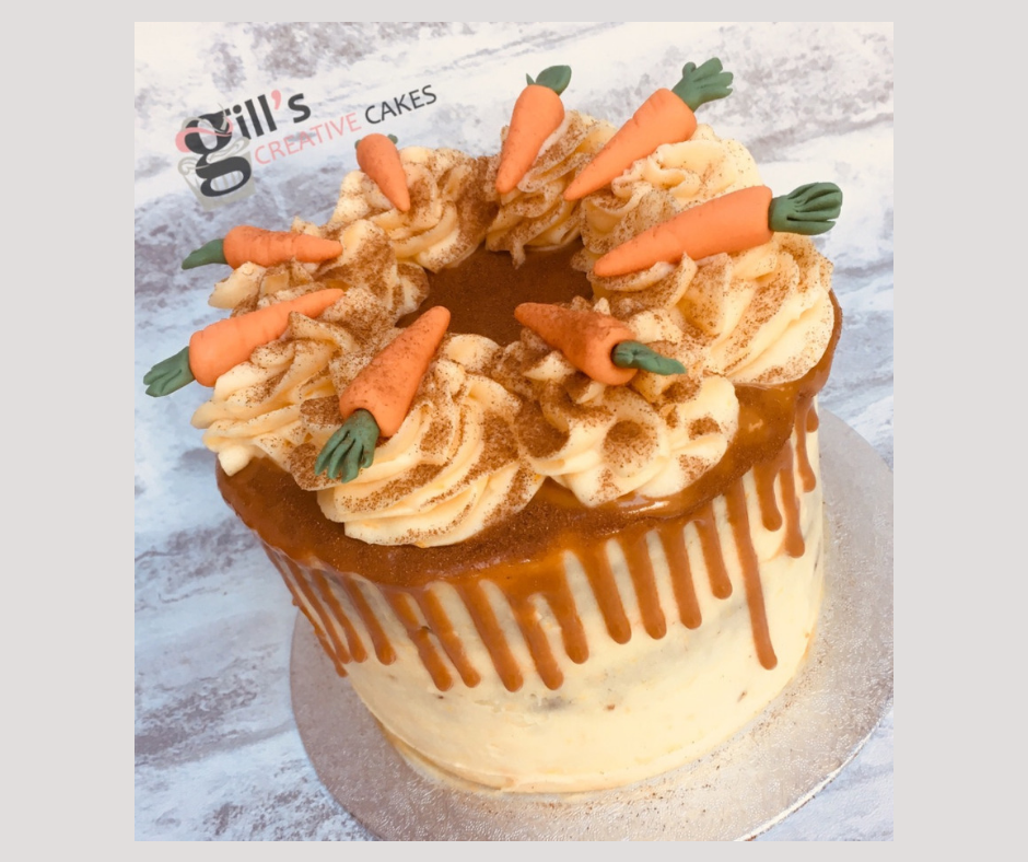 Carrot Cake with Salted Caramel Drip