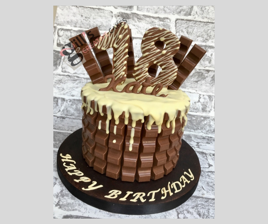 Kinder Chocolate Bar Drip Cake .png