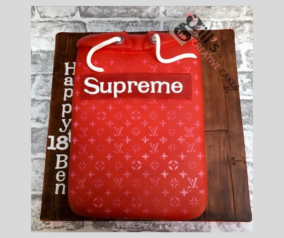 Red Supreme Hoodie Birthday